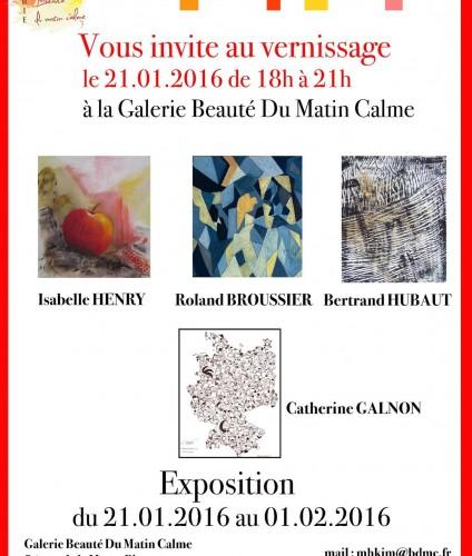 Hubaut Bertrand Galerie Beauté du Matin Calme paris 15ème